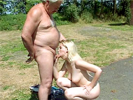 An old man fucking a young teen girl